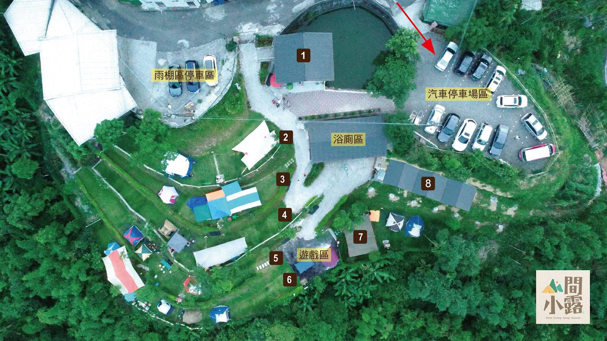 新北市營區推薦│小而美「山間小露」,有戲水池、沙坑還有池塘餵魚,營本部提供披薩、鬆餅、冷熱飲
